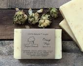 Orange Hops Soap - Handmade soap, Cold Process, All Natural soap, vegan soap, essential oil soap