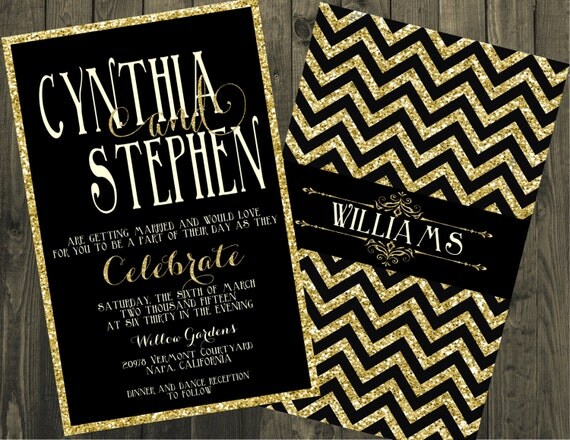 black and gold wedding invitations black and gold wedding invitation glitter wedding 1803