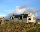 Derelict Nissen Hut House Instant Download Digital Photo - Isle of Benbecula, Outer Hebrides, Scotland