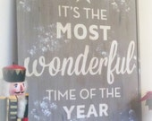 It's the Most Wonderful Time - PB knock-off Christmas sign