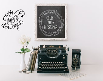 INSTANT DOWNLOAD, Count Your Blessings, No. 153