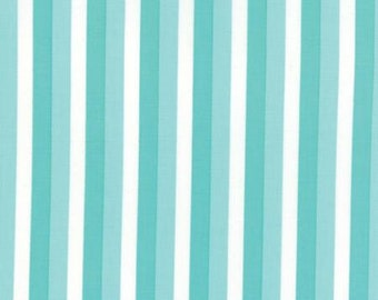 Color Theory Ombre Stripes Teal - Moda Fabrics 10835 14 Blue Turquoise White