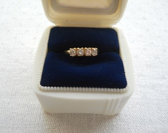 Vintage Diamond like Cubic Zirconia Crystal Rhinestone Ring Mother's Day Gifts