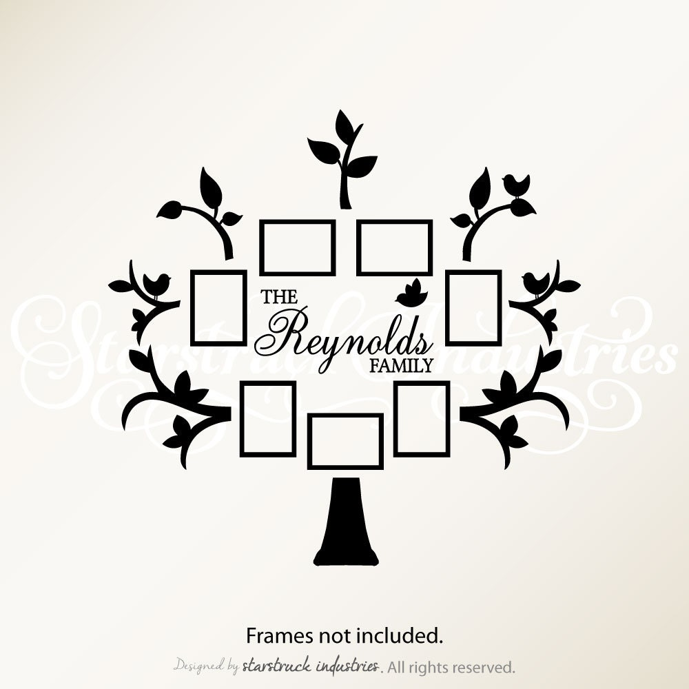 Personalized Last Name Family Tree Wall By