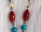 OOAK** handmade glass owl cabochon gemstome necklace, cabochon, gemstone, cameo, owl jewelry, gemstone jewelry.