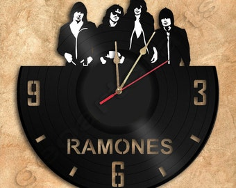 Wall Clock Ramones Vinyl Record Clock Upcycled Gift Idea