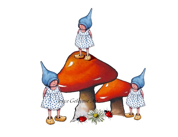 Gnome Clip Art: Items Similar To Clip Art: FREEHAND Drawing Of Little