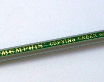 Staedtler Copying Pencil. Memphis 485. Mid Century Copying Green Pencil. Ballot Pencil. Vintage German Pencil.
