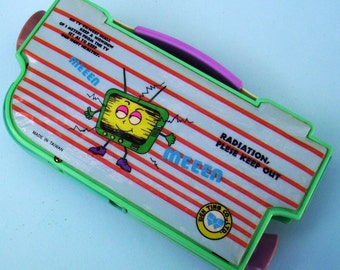 Video Camera Mechanical Pencil Case. Multi-Function Pencilcase. 1980s Kitsch Pencil Box.