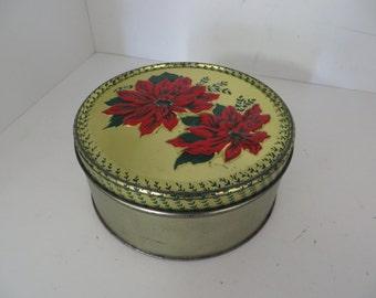 Poinsettia  Tin Can