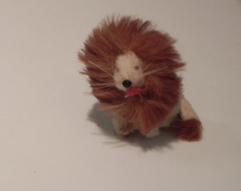 Miniature Lion Rabbit Fur Figurine Made in Germany Choice of One