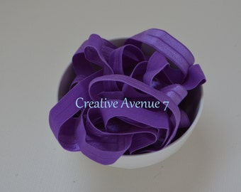 5/8 Fold Over Elastic- Purple Elastic-