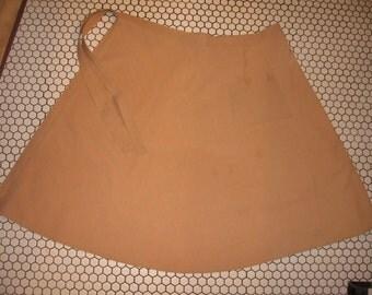Wrap skirt 1970s brown tan