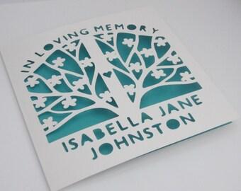 Sympathy / Remembrance / Memorial / In Memory Papercut card