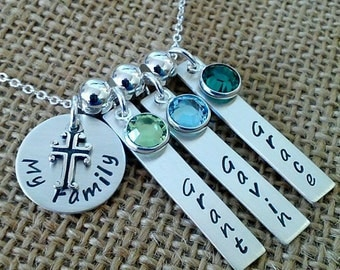 Personalized Family Necklace, Mom Necklace, My Girls Necklace, My Boys Necklace, Personalized Kids Names Necklace, Grandma Necklace