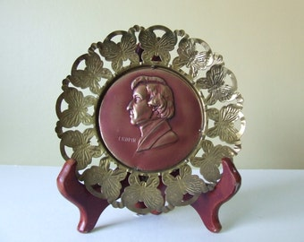 Music - Classical Composers Commemorative Plaques, 1950s, Brass & Copper, Set of 6 ON SALE!