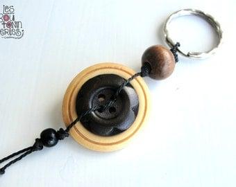 Key ring - Wood - Free shipping