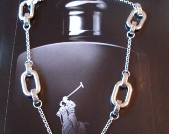 Classic Silver Chain Equestrian Bridal Bit Necklace  Beaconhillcollect  Jewelry  We Ship Internationally