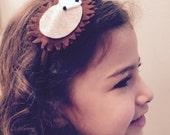 Felt critter, porcupine/hedgehog headband or hair clip