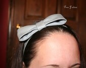 "Faux Leather Bow ""Tie"" Headband"