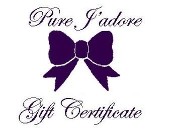Pure J'adore Custom Price Gift Certificate