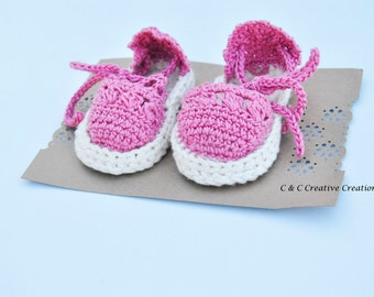 Baby Sandals - Baby Shoes - Baby Booties - Pink - Baby Shower Gift