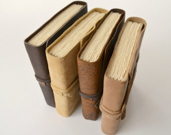 Handmade Bound Leather Journal Set Custom Order (414C)