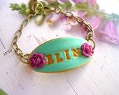 Girl Name Bracelet, Bracelet for little girl, Baby Girl gift, Flowergirl jewelry, Flowergirl Bracelet, custom bracelet, Birthday gift girl