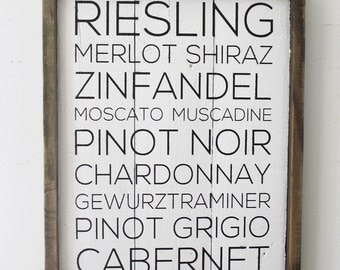 Wine Reclaimed Wood Sign