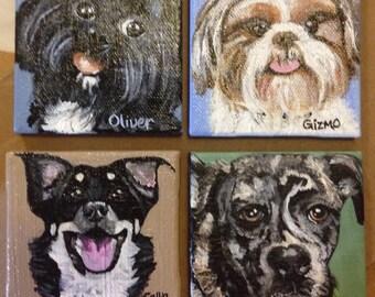Acrylic Miniature pet painting