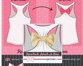 Bachelorette Party Bows for Racerback Shirts