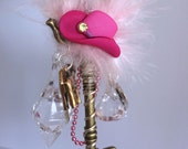 Cowgirl Decor Skeleton Key Wire Wrapped Altered Decorated Key Tassel Doorknob Hanger