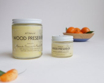 Wood Preserver by Wind and Willow Home, natural bee's oil, wooden bowl oil, spoon butter, cutting board oil, wood wax, wood cleaner