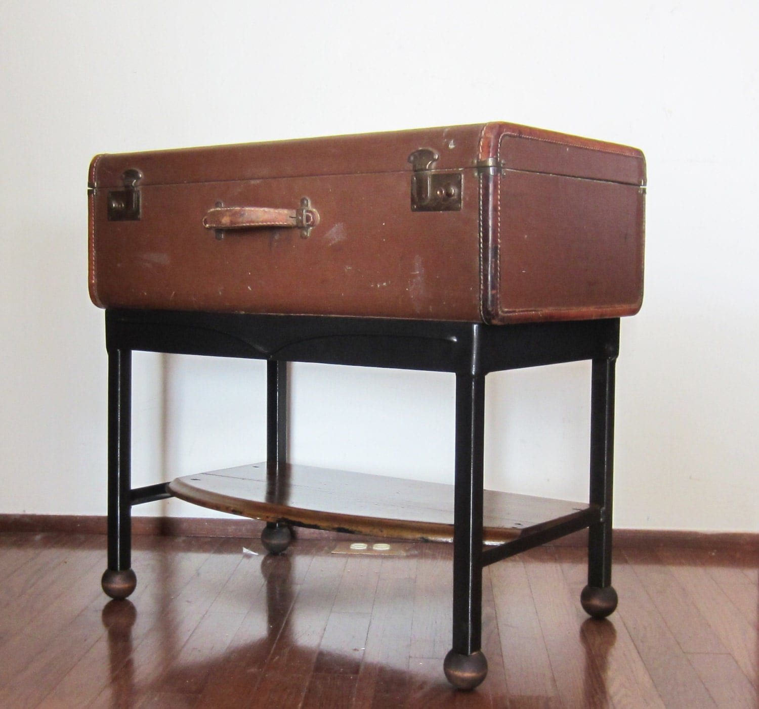 Brown Suitcase Table Side Table End Table Coffee Table