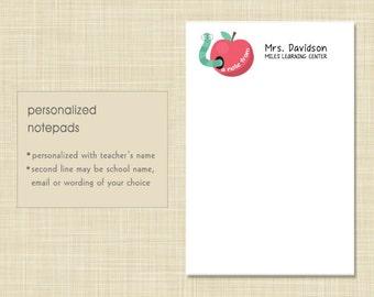 Teacher Notepad - Wise Worm - teacher gift