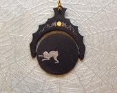 Rare and Unusual Goats Rutting? Spinner Pendant Watch Fob Charm