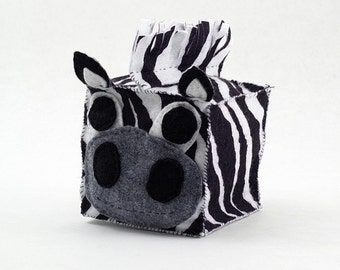 Zebra Plush Animal Block