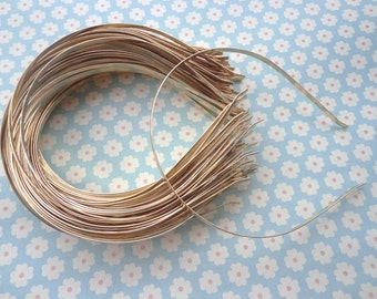 Gold headbands--10pcs 3mm gold plated metal headbands
