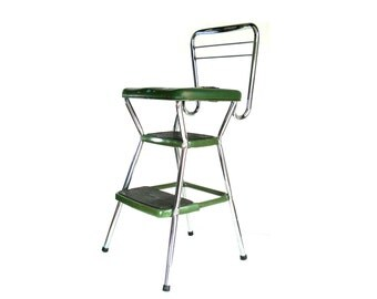 Vintage Cosco Green Kitchen Step Stool