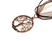 Smaller tree of life pendant, celtic trinity knot pendant, celtic tree of life pendant, rustic tree of life pendant, copper tree of life