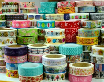 Pick 3 whole rolls Washi Tape of your choice - Any 3 rolls from more than 250 choices