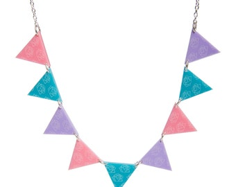 Bunting necklace - laser cut acrylic
