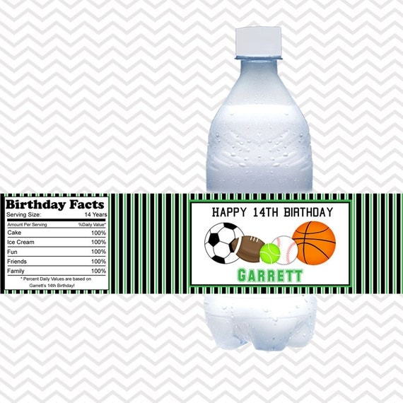 Personalized Sports Bottle Labels