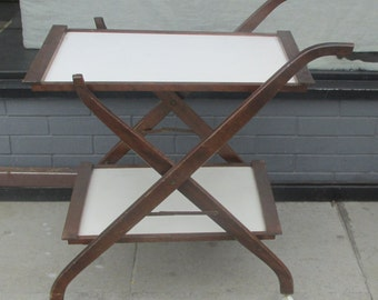 Wood Tea Serving Cart,Patio Furniture Coffee Tables, Out door Tea Cart,Vintage Tea Cart ,Solid Wood Serving Cart, Folding Bar Cart.