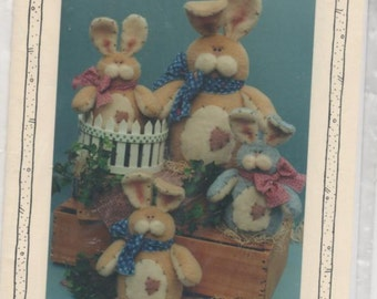 Sewing Pattern Plush Bunny Sewing Craft Pattern Easter