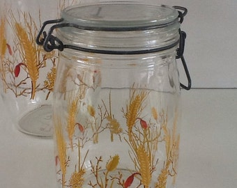 Vintage Canister set Wheat  Pattern