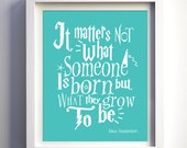 Harry Potter Inspired Nursery Wall Ar Custom Baby Gift Baby Shower Gift Idea matters not what someone is born Albus Dumbledore Harry Potter