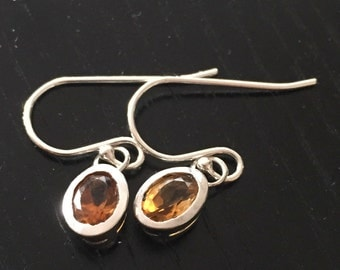 Yellow Citrine Dangles in Sterling Silver