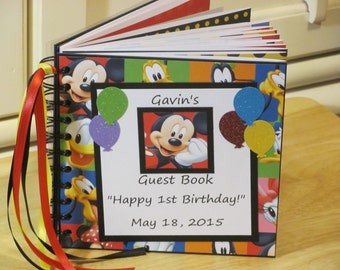 Birthday Guest Book Sign In Album Scrapbook Boy or Girl Keepsake First Birthday 1st Birthday Well Wishes Words of Advice Baby Shower