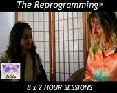 Reprog 8 x 2, Crystals - Love Necklace, 8 x 2 Hour Signature Sessions of The Reprogramming - Therapy Healing on Stress, with Jelila